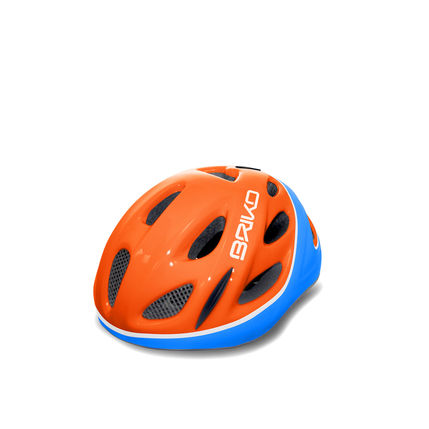 BRIKO HELMA PONY 2017 150 902 shiny orange-light blue-wh