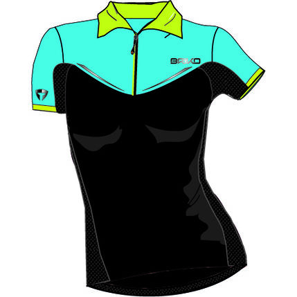 BRIKO POLO MTB ROCCIOSA lady 2016 017 Nblack-lightblue-green