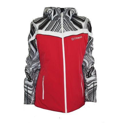 LADIES SKI JACKET 2030 ruby-white/black-white-bla