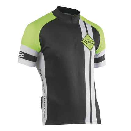 NW DRES BEWARE OF CYCLIST 2014 056 black-white-yellow-fluo