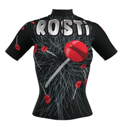 ROSTI DRES CIUPA lady dlouhý zip 2019 016 15 black-red