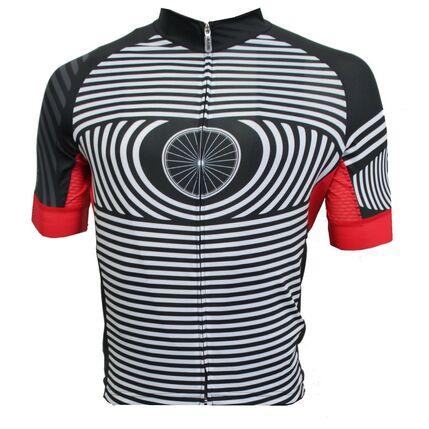 ROSTI DRES EYE dlouhý zip 2018 004 31 black-white-red