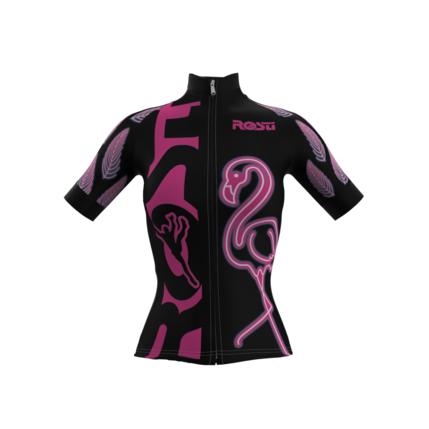 ROSTI DRES FLAMINGO lady dlouhý zip 2021 028 black-pink
