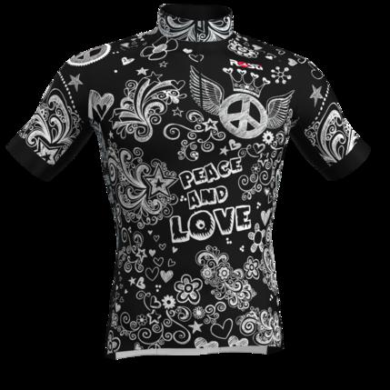 ROSTI DRES PEACE and LOVE dlouhý zip 2019 029 black-white