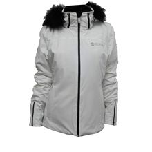 L.SKI JACKET+FUR 2028F white-white