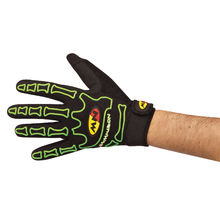 NW RUKAVICE SKELETON 2015 005 black-greenfluo