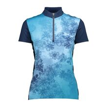 WOMAN BIKE T-SHIRT LGIBIZA-BLUE
